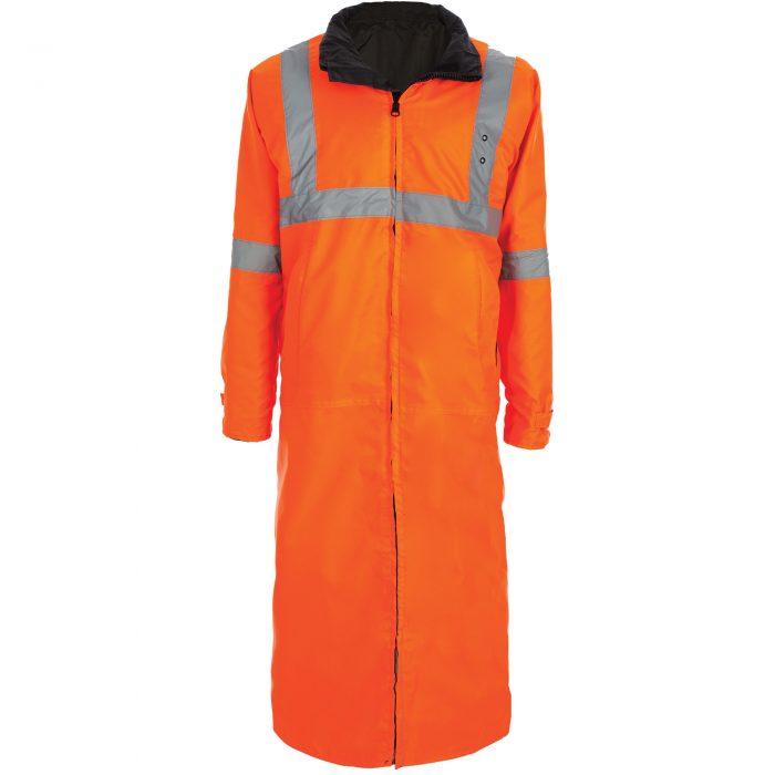 6011 Reversible Raincoat, Orange and Black